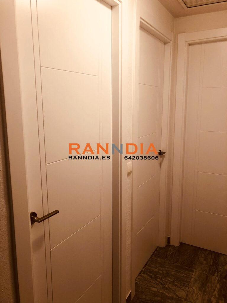 Puertas en Nerja blancas lacadas